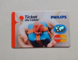 Poland Pologne Philips Pre-paid MasterCard Edenred Card Carte - Sonstige
