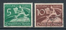 Deutsches Reich Z 738/39 Gestempelt Mi. 14,- - Gebraucht