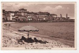 CPA 20 : 51 - ILE ROUSSE (Corse) - La Plage - Ed. CAP à Nice - 1950 - - Otros Municipios