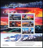 Canada (2018) - Block -  /  Firefighter - Police - Policia - Bombero - Soldier - Helicopter - Politie En Rijkswacht