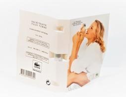 échantillons De Parfum   Tubes LACOSTE FOR WOMEN  De LACOSTE  EDT  1.6 Ml - Echantillons (tubes Sur Carte)