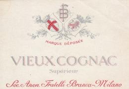 Vieux Cognac, Superieur - Soc. Anon. Fratelli Branca - Etiketten