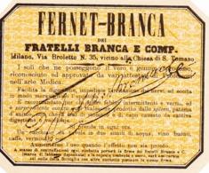 Fernet Branca - Frateli Branca E Comp. - Etiketten