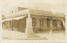 "Real Photo  Hotel Café "" Acera De Marti ""  . P. Used Guaimaro Camaguey . One Light Crease - Cuba"