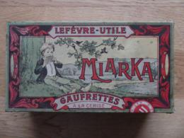 Lefèvre-Utile (LU) Miarka Gaufrettes à La Cerise. Boite Métal Recouverte D'une Chromolithographie D'Alfons Mucha. 1911 ? - Dozen