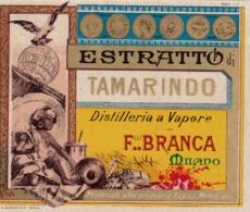 Estratto Di Tamarindo - Distill. A Vapore - F.lli Branca Milano - Etiketten