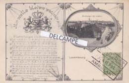 LUXEMBOURG - Partition De Musique ...Carte Postale Avec Cachet D'ambulant - Luxemburg - Town