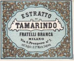 Estratto Di Tamarindo - F.lli Branca Milano - Etiketten