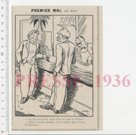 Humour Fête Du Premier Mai Chômage Chômeur Secours ?? Populaire ??  CHV20 - Zonder Classificatie