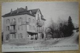 1 CPA Vierge Au Dos 74 BENITE FONTAINE Hôtel Pension Bellevue Près LA ROCHE SUR FORON - France