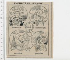 Humour Puérilité Jeune Enfant Jouets Marionnette Quilles Jeu Poupée Pot Confiture Moutarde Tasse Infusion CHV20 - Vecchi Documenti