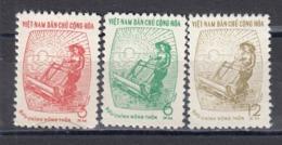 Vietnam Nord 1962 - Rural Communities, Mi-Nr. Dienst 33/35, MNH** - Vietnam