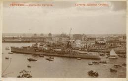 """Real Photo Crucero """" Almirante Cervera """" Spanish Cruiser - Cuba"""