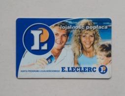 Poland Pologne E.Leclerc Loyalty Card Carte De Fidélité - Cartes Cadeaux