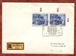 Einschreiben Reco, Weltpostkongress Wien, SoSt - Und So-R-Zettel, Nach Wels 1964 (82101) - 1945-.... 2. Republik