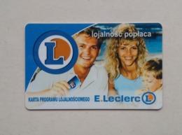 Poland Pologne E.Leclerc Loyalty Card Carte De Fidélité 2 - Cartes Cadeaux