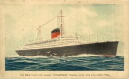 S.S. CHAMPLAIN Orion, Orient Line. CARGO SHIP - Paquebote