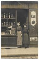 33-BOURG-SUR-GIRONDE-CARTE PHOTO-Magasin EPICERIE, 8 Rue ???? à Identifier... Animé - Frankrijk