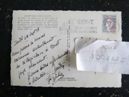 MORET SUR LOING - SEINE ET MARNE - FLAMME JOIE DES ARTISTES ET DES PECHEURS SUR MARIANNE COCTEAU - PECHE - Mechanical Postmarks (Advertisement)