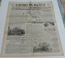 L'écho De Nancy Du 18 Février 1942. - Riviste & Giornali