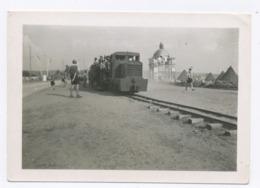 E142 Photographie Originale Vintage 1947 Petit Train De La Ligne Maginot Voir Verso - Treni