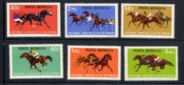 ROUMANIE ROMANA 1974, COURSES DE CHEVAUX, 6 Valeurs, Neufs / Mint. R893 - Reitsport