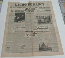L'écho De Nancy Du 27 Janvier 1942.(Paul Marion) - Riviste & Giornali