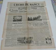 L'écho De Nancy Du 21–22 Février 1942.(Arcachon-Pucheu-épée Du Maréchal) - Riviste & Giornali