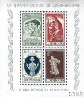 Luxembourg  -  1945,20.Dez. Caritas:Kriegsgeschädigte. Ra T Dr. ( 4x5 ) Auf Faserpapier  395 - 396 - 397 - 398   2 Scans - Blocs & Feuillets