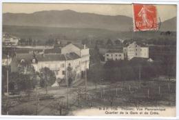 CPA  THONON-LES-BAINS  -  Vue Panoramique . Quartier De La Gare Et De Crete. - Thonon-les-Bains