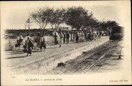 Cp La Marsa Tunesien, Arrivée Du Train, Bahnhof - Tunisie