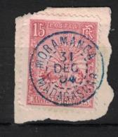 MADAGASCAR - Yvert 68 Oblitéré MORAMANGA En BLEU  - Scott#68 - Madagascar (1889-1960)
