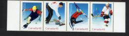 CANADA 2002, Patinage De Vitesse, Curling, Hockey, Ski Acrobatique, 4 Valeurs, Neufs / Mint. R1528 - Invierno 2002: Salt Lake City