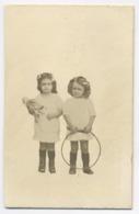 E143 Photographie Originale Vintage Deux Fillettes Détourage Studio - Other