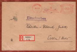 Einschreiben Reco, Absenderfreistempel, Carl Spaeter, 60 Rpf, Duisburg 1931 (82108) - Briefe U. Dokumente