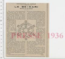 Le Bé-Kari Jeu De Dominos Ancien Békari CHV20 - Sin Clasificación