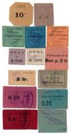 1914-1918 // P.O.W. // Bon De Prisonnier De Guerre // Différentes Compagnies // 14 Bons - Bons & Nécessité