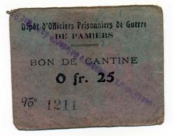 1914-1918 // P.O.W. // Bon De Prisonnier De Guerre // PAMIER // Bon De Vingt Cinq Centimes - Bons & Nécessité