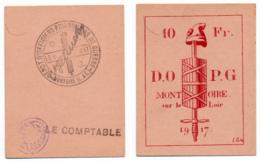 1914-1918 // P.O.W. // Bon De Prisonnier De Guerre // MONTOIRE SUR LE LOIR // Bon De Dix Francs - Bons & Nécessité