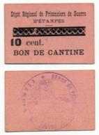 1914-1918 // P.O.W. // Bon De Prisonnier De Guerre // ETAMPES // Bon De Dix Centimes - Bons & Nécessité