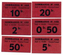1939-1945 // P.O.W. // Bon De Prisonnier De Guerre // CLERMONT-FERRAND / Etab.A.OLIER // 6 Bons - Bons & Nécessité