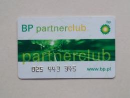 Poland Pologne BP PartnerClub Loyalty Card Carte De Fidélité 2 - Gift Cards