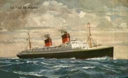 S.S. ILE DE FRANCE Orion, Orient Line. CARGO SHIP - Paquebote