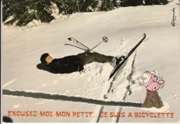 """ALEXANDRE - Série Neige  """" Excusez Moi Petit Je Suis En Bicyclette   """"  Série N° 826/4 - Alexandre"""