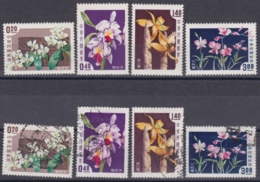"""TAIWAN 1958, """"Orchids"""", Serie Unmounted Mint + Cancelled - 1945-... République De Chine"""