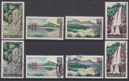 """TAIWAN 1961, """"Taiwan Scenery"""", Serie Mint + Serie Cancelled - 1945-... République De Chine"""