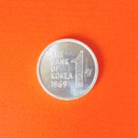 1 Won Münze Aus Südkorea Von 1969 (sehr Schön Bis Vorzüglich) - Korea, South