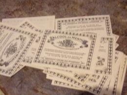 Gros Lot  Plus 300 Images   étiquette Alcool De Menthe  4 Par 5 Cm - Etiketten