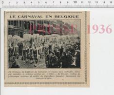 Carnaval En Belgique Cortège Des Gilles De Binche CHV20 - Zonder Classificatie