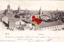 YPRES - Panorama - Carte Circulée En 1903 - Ieper